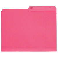 Grand & Toy Coloured File Folders, Pink, Letter-Size, 100/BX