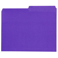 Grand & Toy Coloured File Folders, Violet, Letter-Size, 100/BX