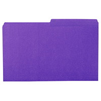 Grand & Toy Coloured File Folders, Violet, Legal-Size, 100/BX