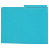 Chemises de couleur sarcelle format lettre (8 1/2 po x 11 po) Grand & Toy
