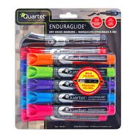 Quartet EnduraGlide Dry-Erase Markers, Assorted, Chisel Tip, 12/PK