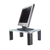 Grand & Toy Adjustable Monitor/Printer Stand, Platinum/Graphite
