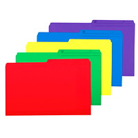 Grand & Toy Coloured File Folders, Assorted Colours, Legal-Size, 25/PK