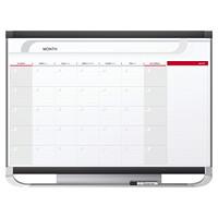 Tableau-calendrier blanc magnétique effaçable à sec Prestige 2 Quartet, mensuel, 36po x 24po, anglais