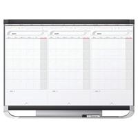 Quartet Prestige 2 Sliding 3-Month Dry-Erase Whiteboard Calendar