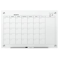 Tableau-calendrier mensuel magnétique en verre effaçable à sec Infinity Quartet, 48po x 36po, anglais