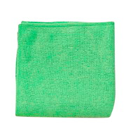 Rubbermaid Commercial Light Duty Microfibre Cloth, Green, 12