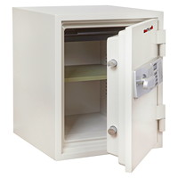 FireKing 2-Hour Fire Safe, Arctic White, 1 Tray/Shelf