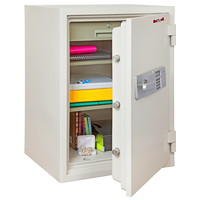 FireKing 2-Hour Fire Safe, Arctic White, 1 Drawer/2 Shelves