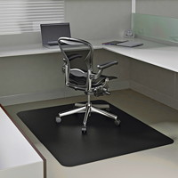 Deflecto SuperMat Studded-Back Chairmat For Medium Pile Carpet, Black, 36