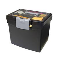 Boîte de classement portative avec range-tout à couvercle translucide