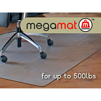 Floortex Cleartex Megamat General Office and Chair Mat For Hard Floors and Carpets, Clear, 46