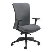 Global Vion Synchro-Tilter High-Back Chair, Grey, Imprint Fabric