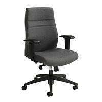 Offices To Go High-Back Multi-Task Synchro-Tilter Chair, Granite, Rock Fabric