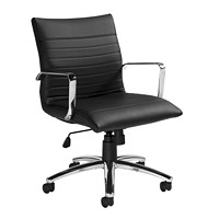 Offices To Go Ultra Low-Back Tilter Office, Black