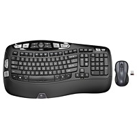 Logitech MK550 Wireless Wave Combo, English, Black