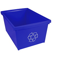 Bac de recyclage bleu Storex