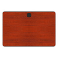 Plateau de table rectangulaire série Tucana Star Quality, cerisier henné, 36poL x 24poP x 1poH