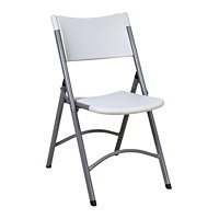 Office Star Worksmart Resin Chairs, Grey - Set of 4