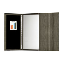 Safco Medina Presentation Board, Grey Steel, 48