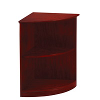Mayline Medina 2-Shelf Quarter-Round Bookcase