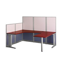 BBF Office-in-an-Hour U-Shaped Workstation