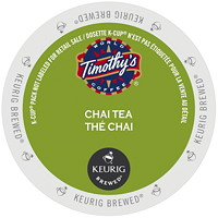 Timothy's Chai Tea K-Cup Pods, Single-Serve, Box of 24