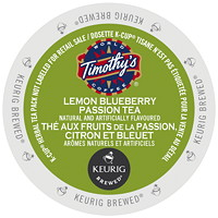 Timothy's Lemon Blueberry Passion Tea K-Cup Pods, Single-Serve, Box of 24