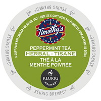Timothy's Peppermint Tea K-Cup Pods, Single-Serve, Box of 24