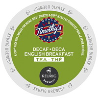 Timothy's Decaf English Breakfast Tea K-Cup Pods, Single-Serve, Box of 24