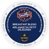 Timothy's Breakfast Blend Coffee K-Cup Pods, Single-Serve, Box of 24