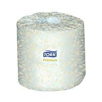 Rouleaux de papier hygiénique deux épaisseurs Premium Tork, blanc, caisse de 48