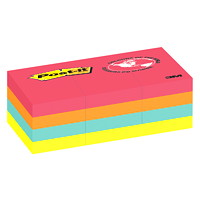 Feuillets Post-it, collection Le Cap, non lignés, 1 1/2 po x 2 po, blocs de 100 feuillets, emb. de 12