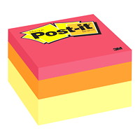 Post-it Original Note Cube in Assorted Colours