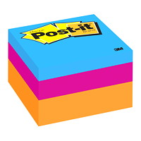 Post-it Original Note Cube in Assorted Colours, Blue Wave, 2