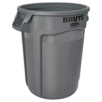 Rubbermaid Commercial Brute Vented 32-Gallon Container, Grey