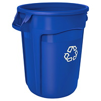Rubbermaid Brute Container, Blue, 32 Gallons