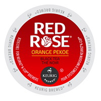 Red Rose Single-Serve Tea K-Cup Pods, Orange Pekoe, 24/BX