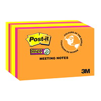Post-it Super Sticky Meeting Notes in Rio De Janeiro Colour Collection
