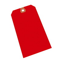 Crownhill Packaging Blank Shipping Tags, Red, #5, 1,000/CT