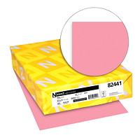 Neenah Exact Vellum Bristol Cover Stock Paper, Pink, Letter Size, Ream