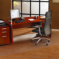 Floortex Cleartex Ultimat General Office and Chair Mat for Hard Floors, Clear, 48