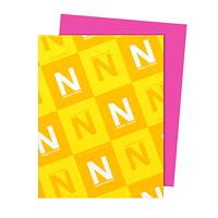 Papier Astrobrights Neenah, rose pulsar, format lettre, certifié FSC et Green Seal, 24lb, rame