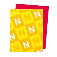 Papier Astrobrights Neenah, rouge rentrée, format lettre, certifié FSC et Green Seal, 24lb, rame