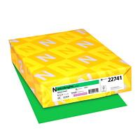 Papier couverture Astrobrights Neenah, couleur vert Gamma Green, format lettre, certifié FSC et Green Seal, 65 lb, rame