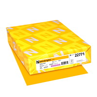 Neenah Astrobrights Cover Paper, Galaxy Gold, Letter-Size, FSC And Green Seal Certified, 65 lb., Ream
