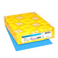 Papier couverture Astrobrights Neenah, couleur bleu Lunar Blue, format lettre, certifié FSC et Green Seal, 65 lb, rame