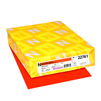 Papier couverture Astrobrights Neenah, couleur orange Orbit Orange, format lettre, certifié FSC et Green Seal, 65 lb, rame