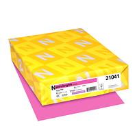 Papier couverture Astrobrights Neenah, couleur rose Pulsar Pink, format lettre, certifié FSC et Green Seal, 65 lb, rame
