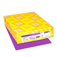 Papier couverture Astrobrights Neenah, couleur pourpre Planetary Purple, format lettre, certifié FSC et Green Seal, 65 lb, rame